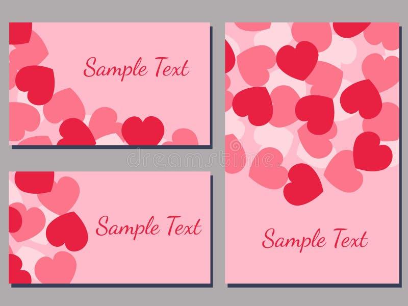 Cartões do amor ilustração stock