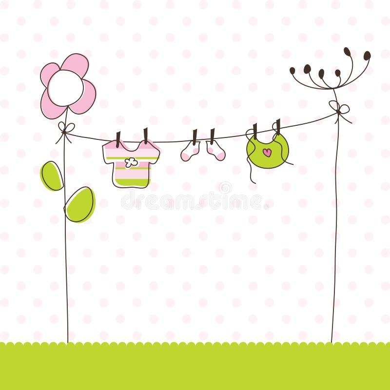 Cartões do anúncio da chegada do bebé ilustração stock