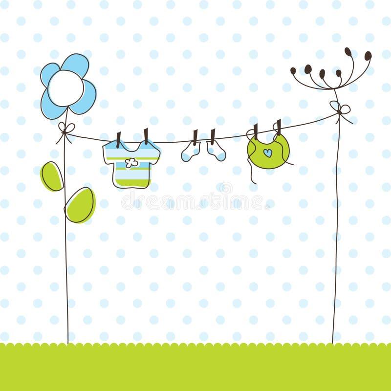Download Cartões Do Anúncio Da Chegada Do Bebé Ilustração do Vetor - Ilustração de flor, floral: 12805070