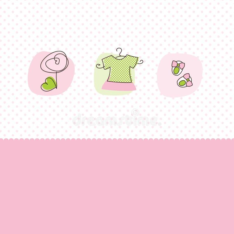 Download Cartões Do Anúncio Da Chegada Do Bebé Ilustração do Vetor - Ilustração de doodle, criança: 12808750