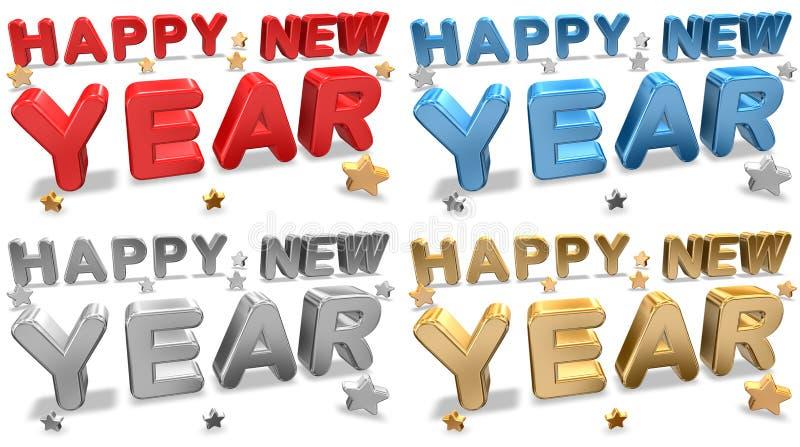 Cartões do ano novo ilustração stock