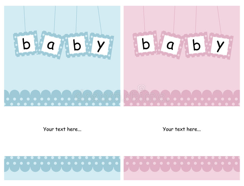 Cartões do bebê ilustração stock