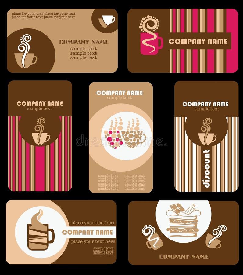 Cartões do café