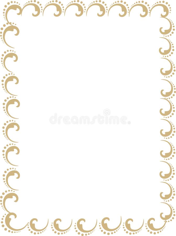 Cartões do convite do casamento, certificados ou tampa dourada do relatório ilustração stock