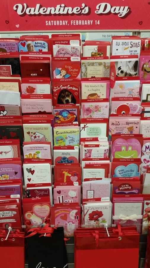 Cartões do dia de Valentim imagens de stock