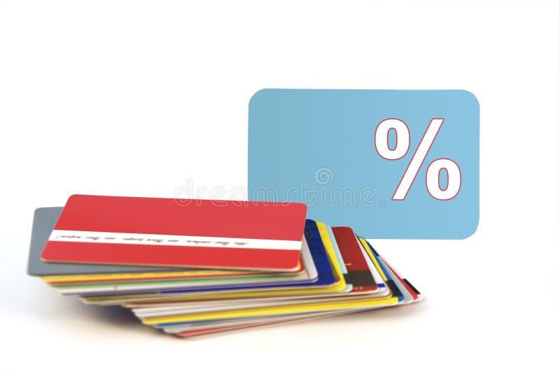 Cartões do disconto fotografia de stock