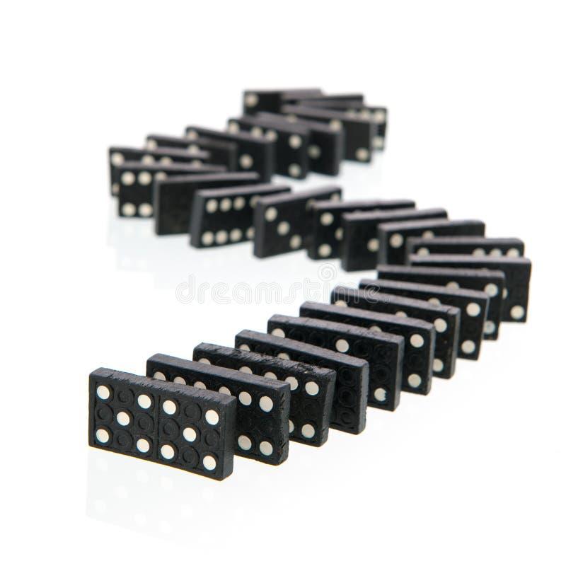 Cartões do dominó foto de stock