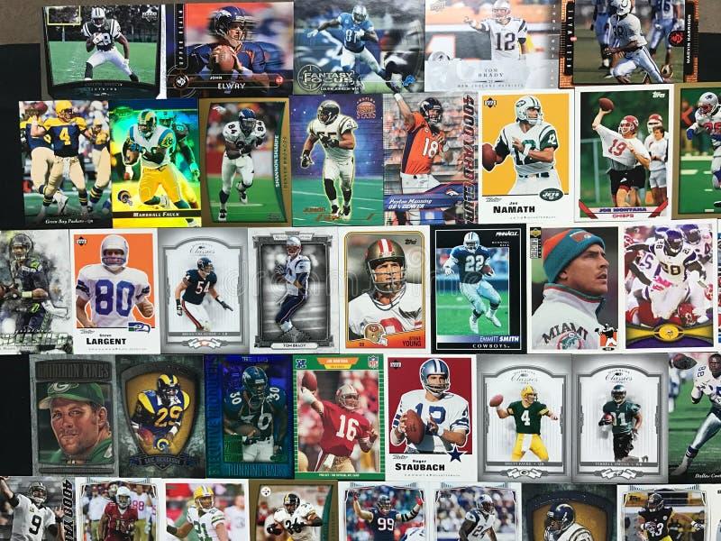 Cartões do futebol imagens de stock royalty free