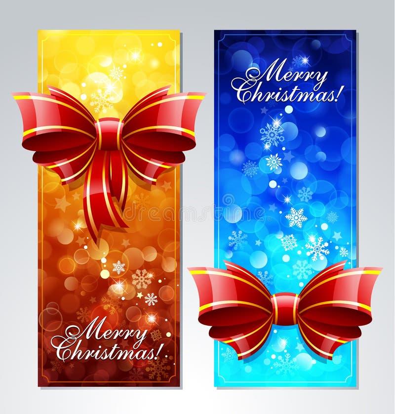 Cartões do Natal ilustração do vetor