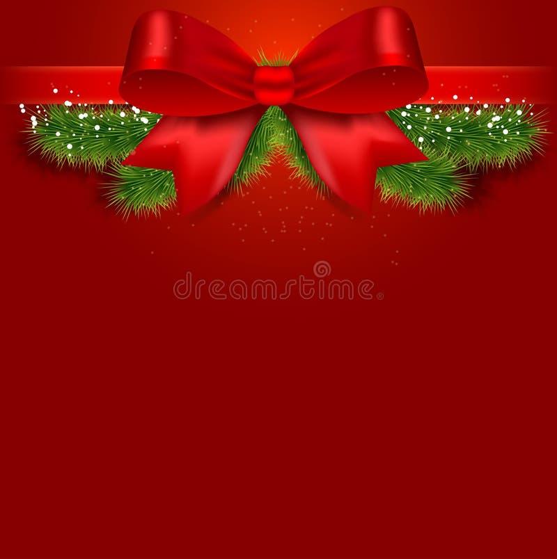 Cartões do Natal e do ano novo com curva branca ilustração royalty free