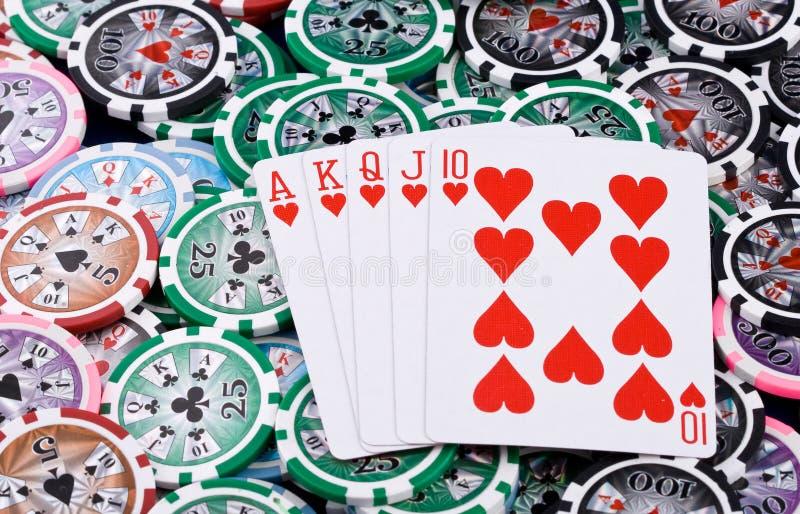 Cartões do póquer fotos de stock