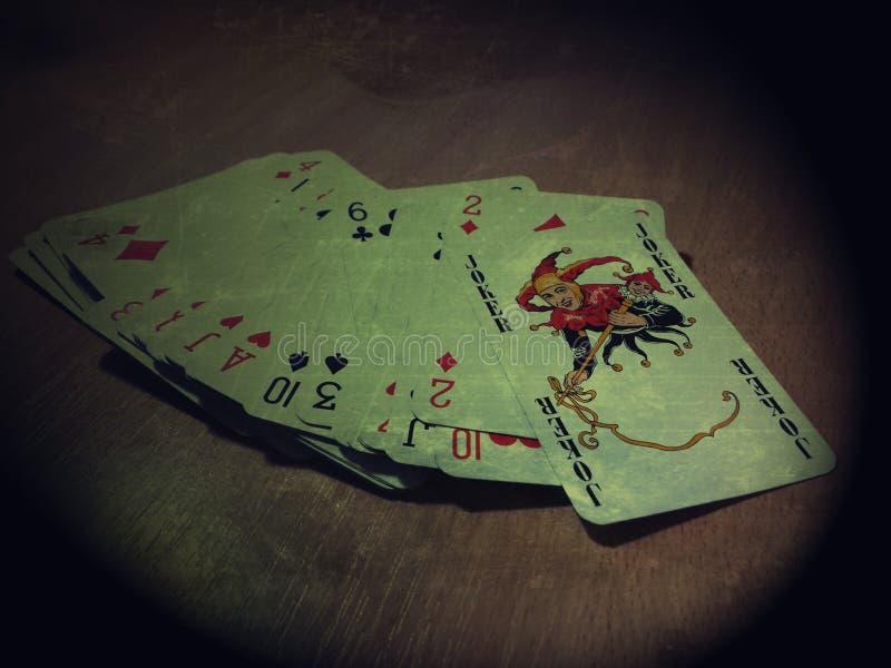 Cartões do póquer fotografia de stock