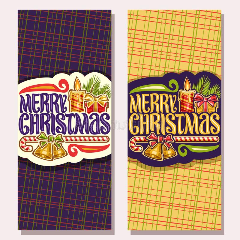 Cartões do vetor para o Feliz Natal ilustração royalty free