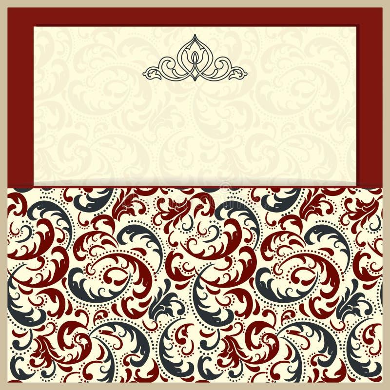Cartões e convites de casamento Elementos decorativos do vintage ilustração stock