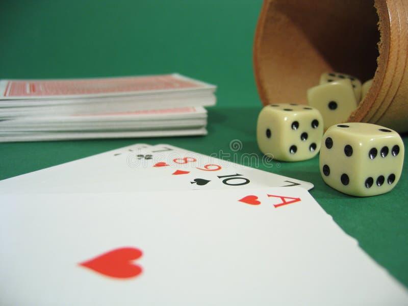 Cartões e dados imagens de stock royalty free
