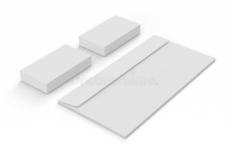 Cartões e envelopes vazios ilustração stock