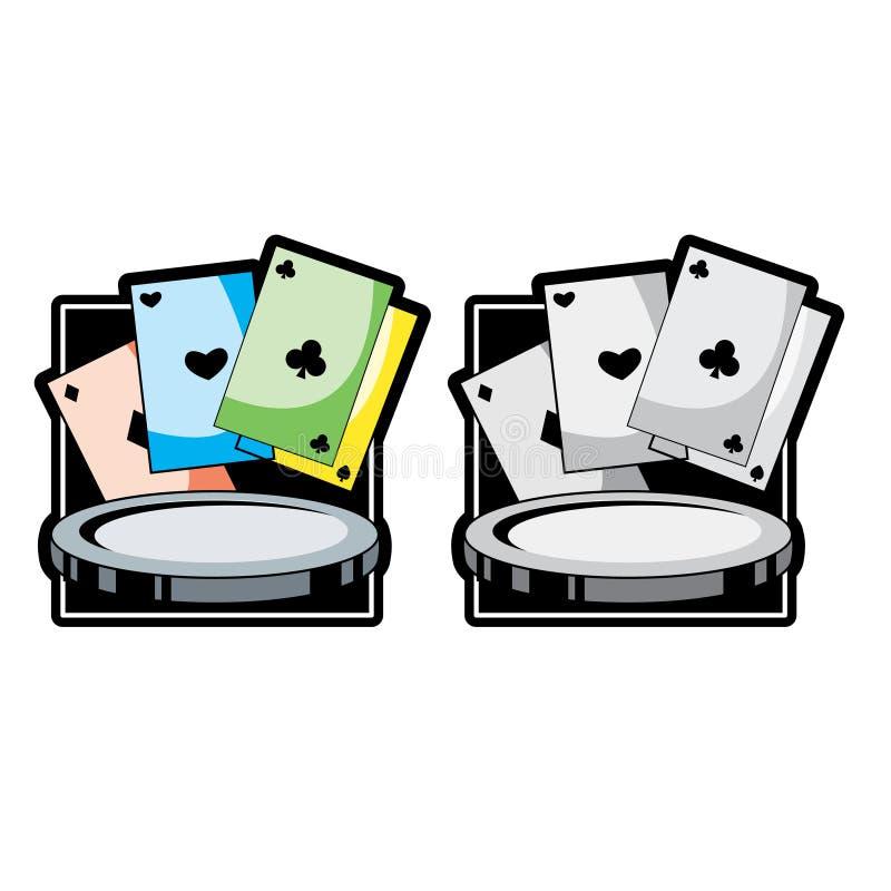 Cartões e póquer ilustração do vetor