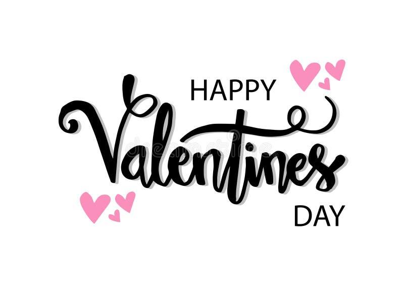 Cartões felizes do dia de Valentim ilustração do vetor