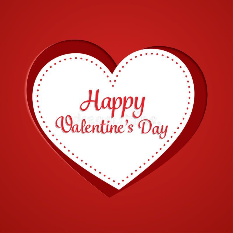 Cartões felizes do dia de Valentim ilustração royalty free