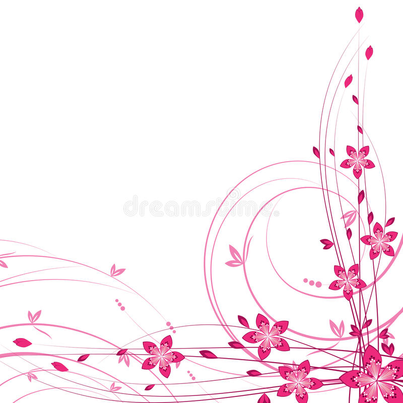 Cartões florais ilustração stock