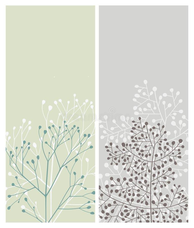 Cartões florais ilustração royalty free