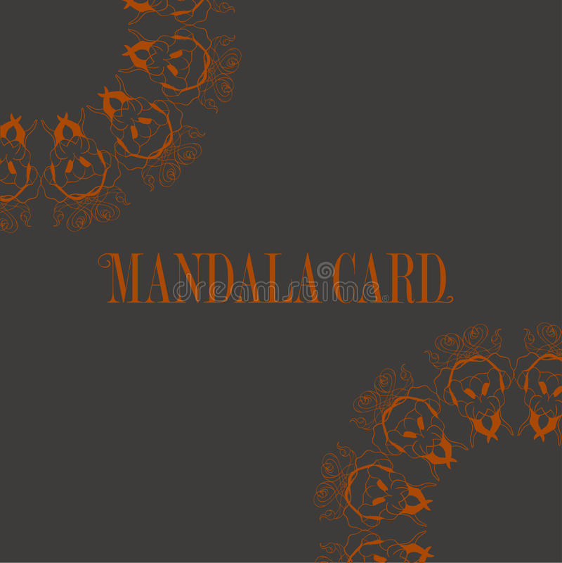Cartões ou convites com teste padrão da mandala Vintage do vetor desenhado à mão ilustração do vetor