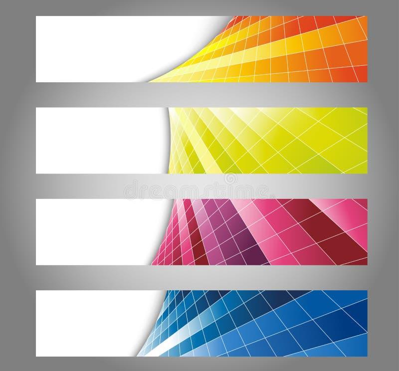 Download Cartões De Vista Frescos Coloridos Ilustração do Vetor - Ilustração de digital, linha: 29825264