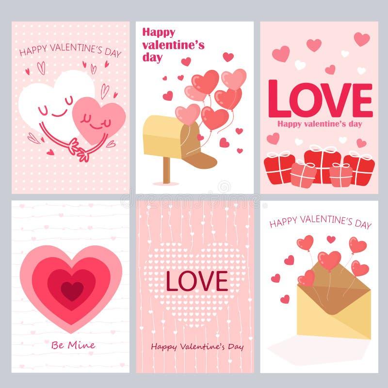 Cartões para Valentine Day ilustração royalty free