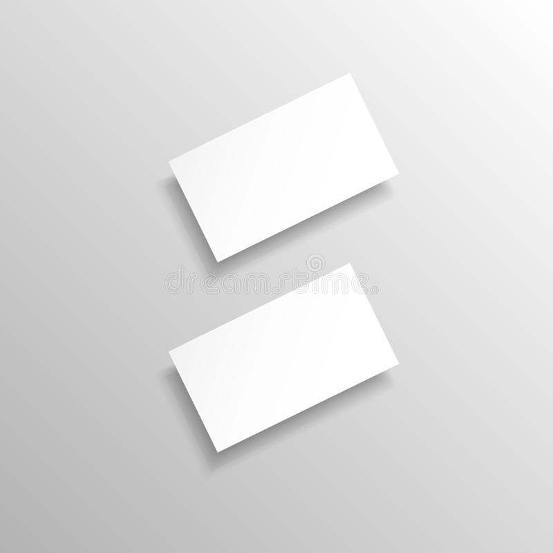 Cartões realísticos do vetor ilustração stock