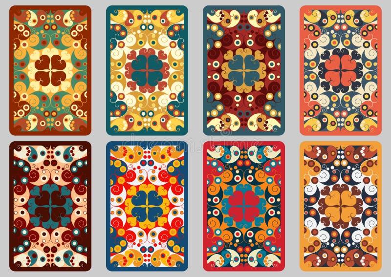 Cartões retros ajustados ilustração royalty free