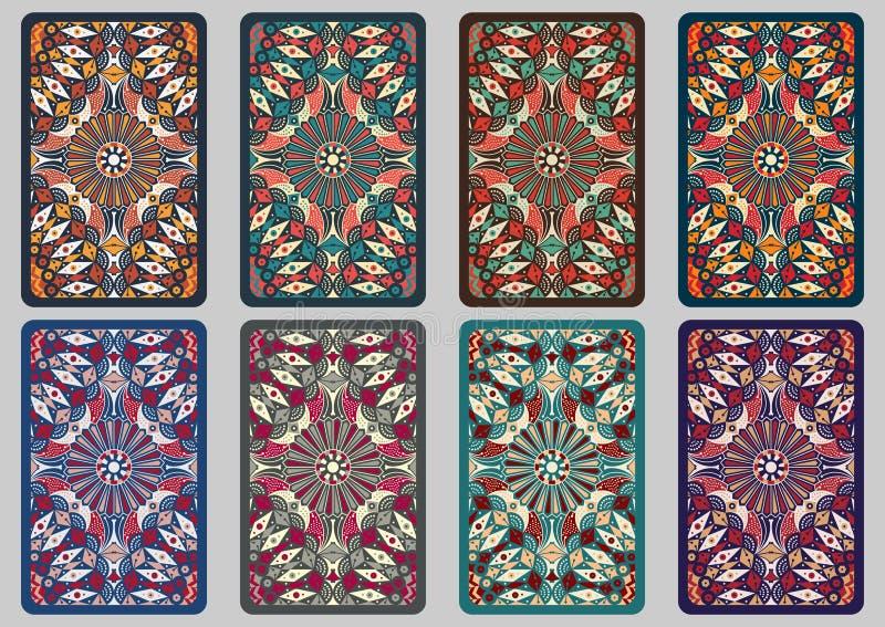 Cartões retros ajustados ilustração stock