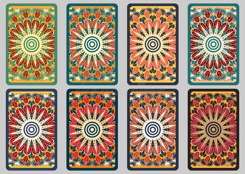 Cartões retros ajustados ilustração do vetor