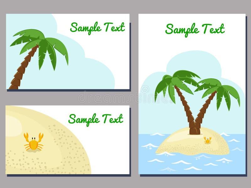 Cartões tropicais ilustração royalty free