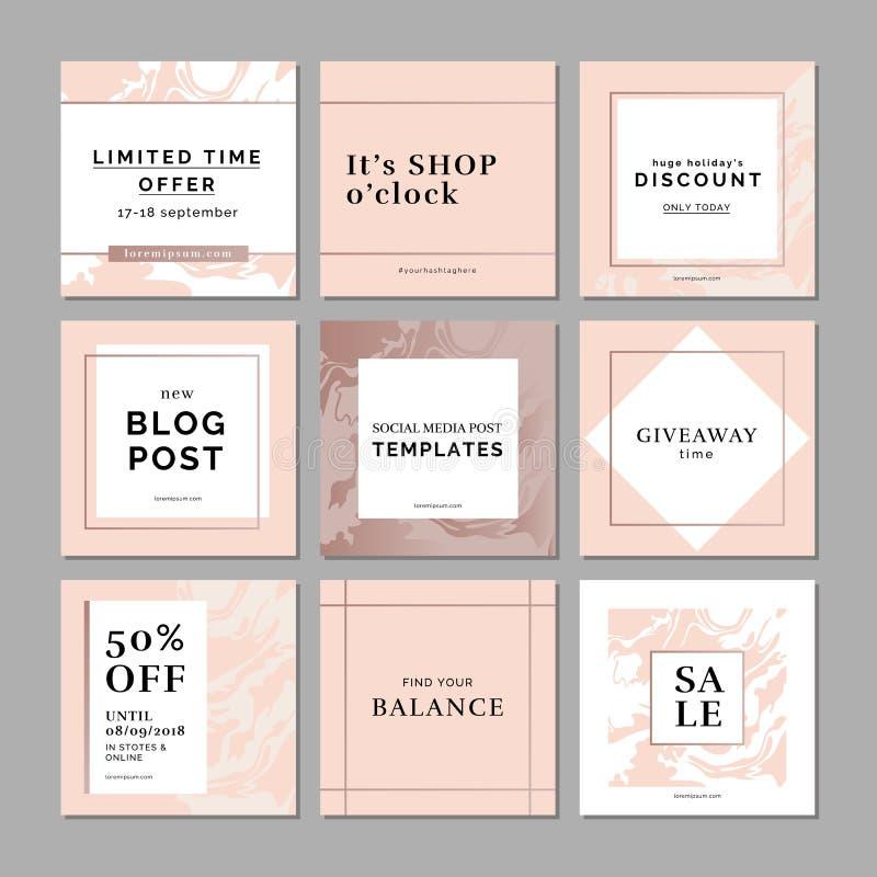 Cartões universais criativos no minimalismo com texturas tiradas mão ilustração royalty free