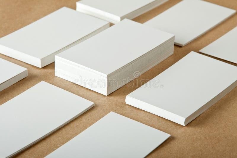 Cartões vazios fotografia de stock