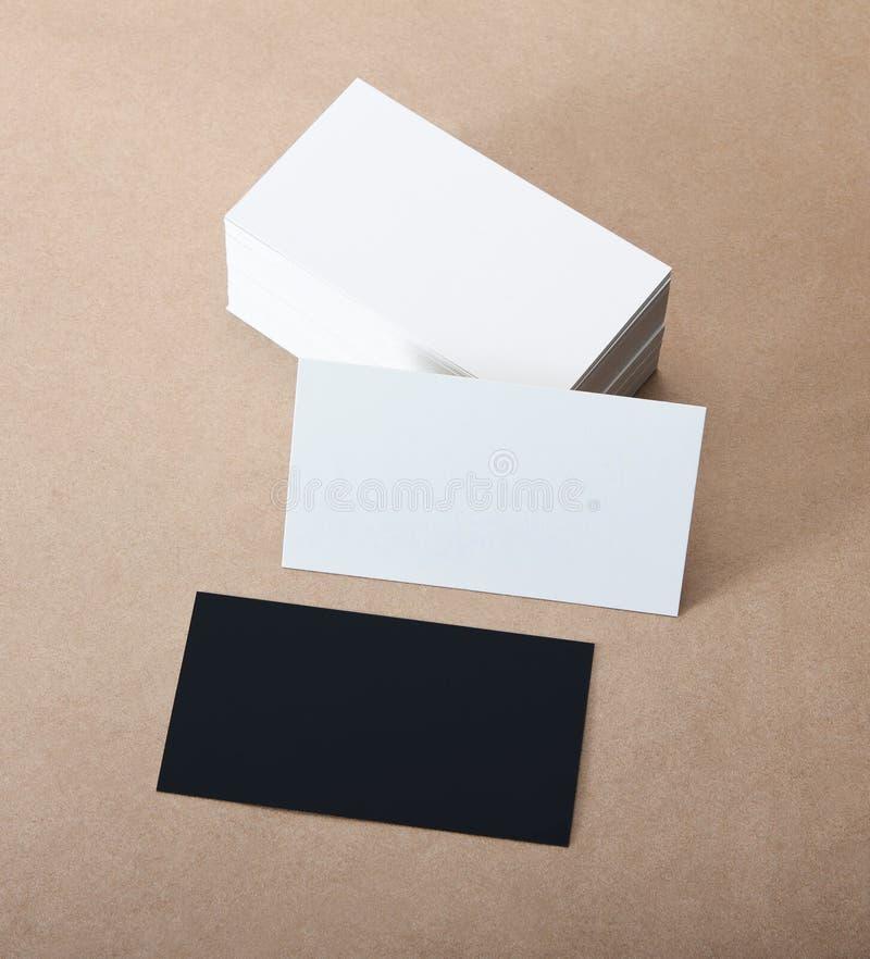 Cartões vazios foto de stock