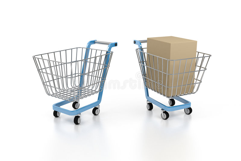 Download Cart stock illustration. Illustration of abstract, shopper - 3945959