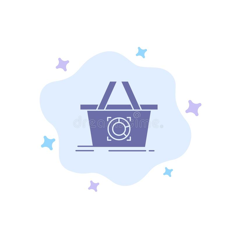 Cart, Add To Cart, Basket, Shopping Blue Icon on Abstract Cloud Background royalty free illustration