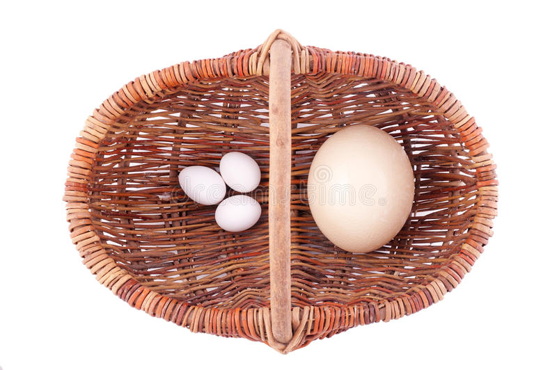 Cart And Eggs Royalty Free Stock Photos