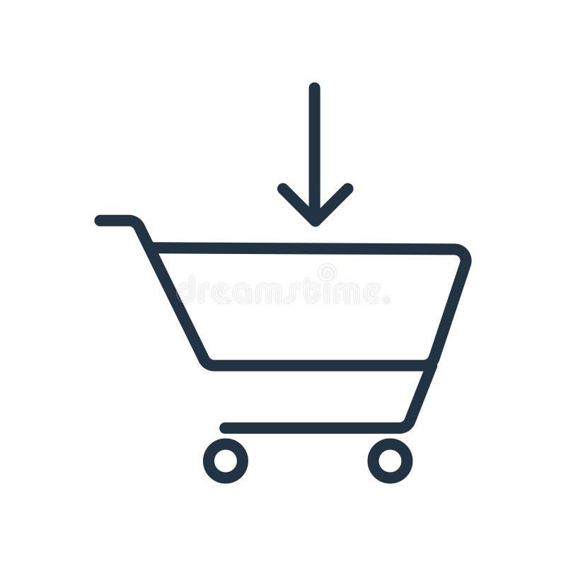 Cart el vector del icono aislado en el fondo blanco, muestra del carro libre illustration