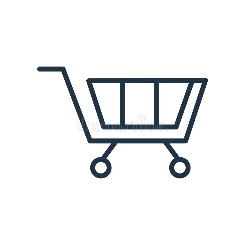 Cart el vector del icono aislado en el fondo blanco, muestra del carro ilustración del vector