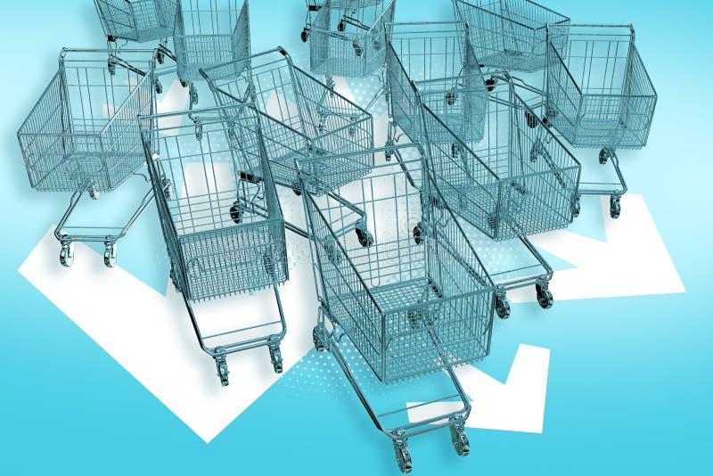 Cart-mageddon! vector illustration