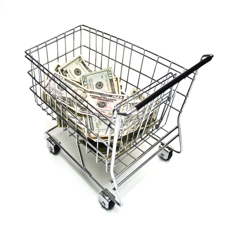 Cart and Money royalty free stock image