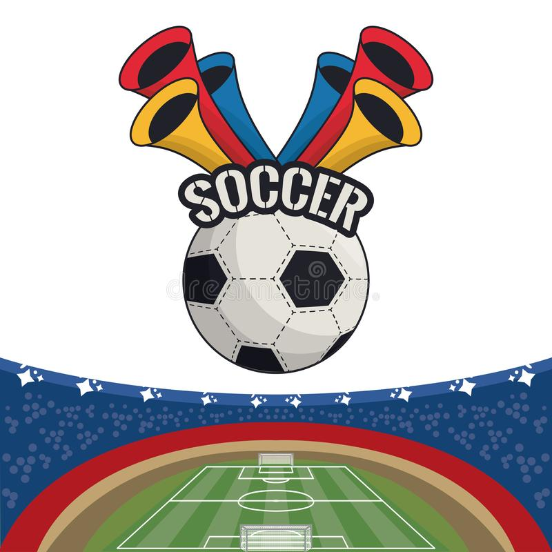 Cart?o de jogo do esporte do futebol ilustração royalty free