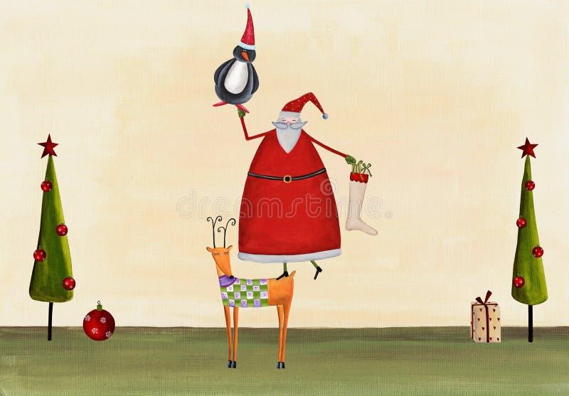 Cart?o de Natal ilustração royalty free