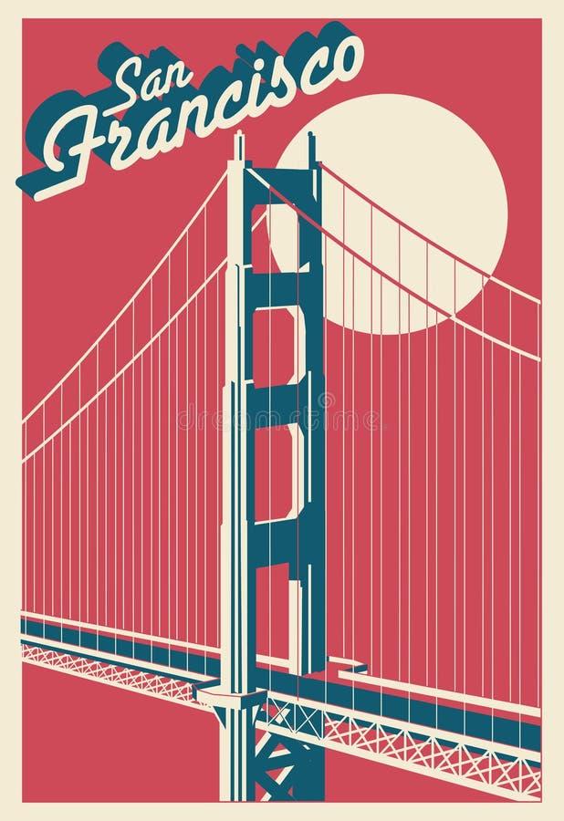 Cart?o de San Francisco California ilustração stock