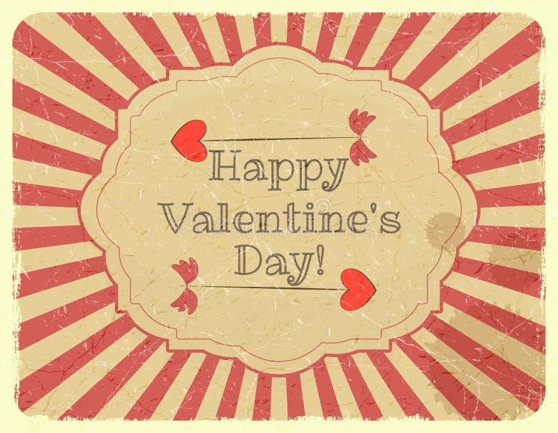 Cart?o do dia de Valentim do projeto do Grunge ilustração royalty free