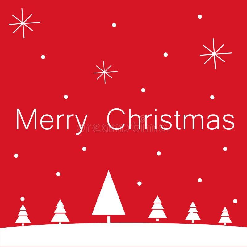 Cart?o do Feliz Natal com estrelas ilustração do vetor