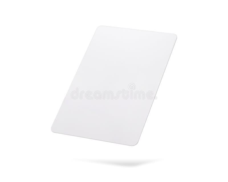 Cart?o dos trajetos de grampeamento isolado no fundo branco Molde do cart?o pl?stico vazio para seu projeto ilustração do vetor