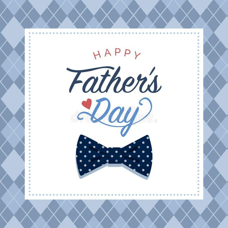 Cart?o feliz do dia de pai com desejos ilustração royalty free